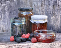 Jam with red fruits Royalty Free Stock Photography