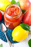 Jam of red pears Stock Images