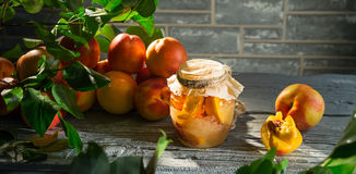 Jam from the ripe peaches Royalty Free Stock Image