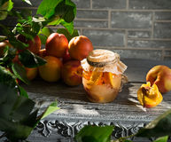 Jam from the ripe peaches Royalty Free Stock Photos