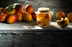 Jam from the ripe peaches Stock Image