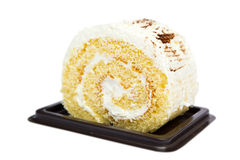Jam Roll Cream Vanilla Stock Image