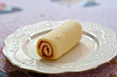 The Jam roll dessert Royalty Free Stock Photos