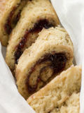 Jam Roly Poly in Muslin.  Stock Photos