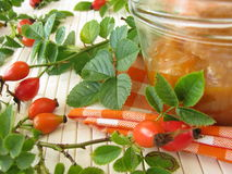 Jam with rose hips Royalty Free Stock Photography