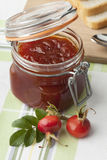 Jam with rose hips Stock Photos