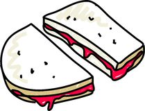 Jam sandwich Stock Photo