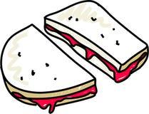 Jam sandwich royalty free illustration
