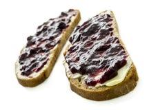 Jam sandwich Stock Photography