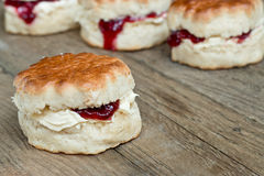 Jam Scones Stock Image