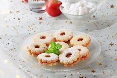 Jam shortbread cookies Stock Image