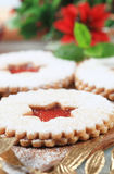 Jam shortbread cookies Royalty Free Stock Images