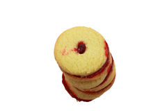 Jam shortcake biscuits Royalty Free Stock Photo