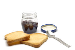 Jam and Slices Stock Image