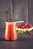Jam or smoothie from  Berrie Royalty Free Stock Photography