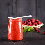 Jam or smoothie from  Berries Stock Images
