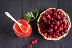 Jam or smoothie from  Berries Royalty Free Stock Photo