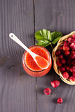 Jam or smoothie from  Berries Stock Photos