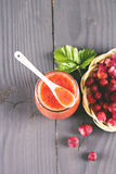Jam or smoothie from  Berries Royalty Free Stock Image