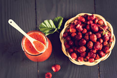 Jam or smoothie from  Berries Stock Image
