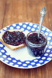 Jam with spoon Royalty Free Stock Images