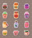Jam stickers. Cartoon vector illustration Stock Photography