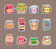Jam stickers. Cartoon vector illustration Stock Photos