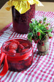 Jam with strawberries Royalty Free Stock Image