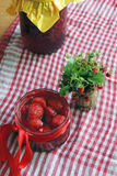 Jam with strawberries Royalty Free Stock Photo
