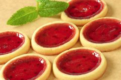 Jam Tartlets Stock Images