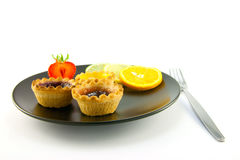 Jam tarts and Fruit Stock Image