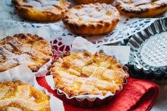 Jam tarts. Pie pastry and jam, homemade, baked Royalty Free Stock Photos