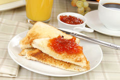 Jam and toast Stock Images