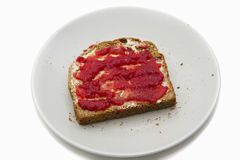 Jam toast Stock Photos