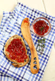 Jam on toast Stock Photography