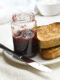 Jam and toast Royalty Free Stock Photo