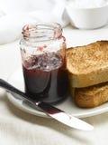 Jam and toast royalty free stock photo