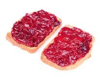 Jam Toasts Isolated On White Background Royalty Free Stock Image
