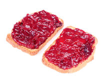 Jam Toasts Isolated on White Background Royalty Free Stock Image