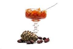 Jam in a vase Stock Photo
