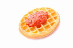 Jam waffle for breakfast Stock Image