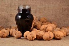 Jam from walnuts Royalty Free Stock Photo