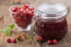 Jam from wild strawberry Stock Photo