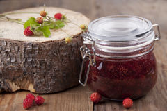 Jam from wild strawberry   Stock Photography