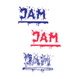 Jam word flowing outside. Liquid Logo Element  Stock Photo