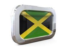 Jamaïca-3D illustratie van de Knoopvlag Royalty-vrije Stock Afbeelding