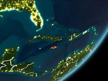 Jamaïca op nachtaarde Stock Foto's