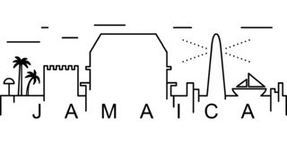 Jamaïca-overzichtspictogram Kan voor Web, embleem, mobiele toepassing, UI, UX worden gebruikt vector illustratie