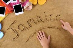 Jamaïca-strandachtergrond Stock Foto