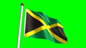 Jamaïca-vlag royalty-vrije illustratie